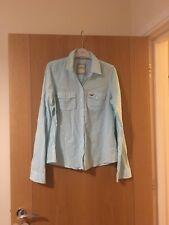 Women's Hollister Blue & white shirt - Size large
