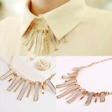 Women Fashion Jewelry Bib Crystal Chain Choker Pendant Collar Statement Necklace