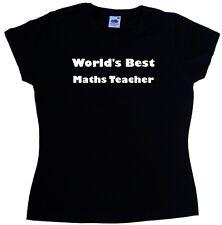 World's Best Maths Teacher Ladies T-Shirt