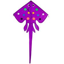 "STING RAY FLY-HI KITE by IN THE BREEZE. 70"" WIDE.WITH TUBE TAIL. RIP-STOP NYLON"