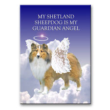 Shetland Sheepdog Guardian Angel Fridge Magnet No 1 New