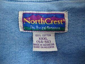 North Crest Jeanshemd, Langarm, für Herren, Jeans Hemd, Größe 3XL XXXL