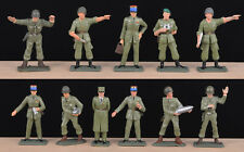 Starlux Modern French Army - Complete set of 11 pieces 60mm Painted Toy Soldiers