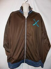 mens artful dodger cutter lads embroidered track jacket XL nwt brown