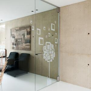 Glasdekor Abstrakt Retro Baum Cubes Aufkleber Sandstrahl Glas Tattoo #5002