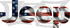 Jeep American Flag Decal/Sticker 1X3 FREE SHIPPING!!
