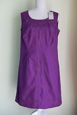 NEW Size 14 Super Curvy PEPPERBERRY Dress Purple Embroidered Shift Party (263)