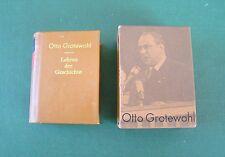 DDR Minibuch - Otto Grotewohl - Lehren der Geschichte - 2 Bände - 1981