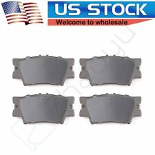 4 Rear Ceramic Discs Brake Pads For Toyota Camry 2007 2008 2009 2010 2011-2016