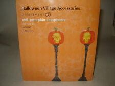 Dept 56 SV Halloween - Evil Pumpkin Lampposts - Set of 2 - NIB