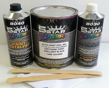 5 Star Low VOC high performance BRILLIANT BLACK urethane auto paint single stage