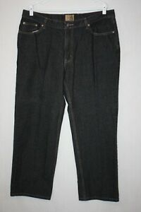 Red Camel Dark Indigo Zip Fly Loose Fit Straight Jeans Size 38x30 (meas 37x29)