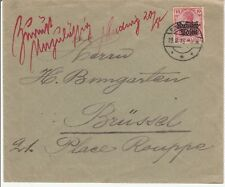 Poland / Germany Scott # N3 on Cover to Brussels  1915