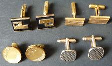 4 paires de boutons de manchette anciens cufflinks