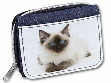 Ragdoll Cat with Blue Eyes Girls/Ladies Denim Purse Wallet Christmas G, AC-159JW