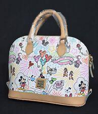 NWT Dooney & Bourke Sketch ZipZip Satchel Disneyana WDW Exclusive. Mickey & Mini