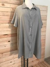*Kekoo* Long-Bluse mit aufregendem Rückeneinsatz aus Spitze, Gr 50-54 (4), taupe