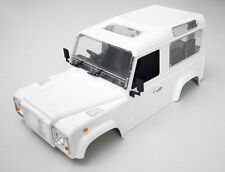 RC 1/10 Scale Truck HARD Body Shell LAND ROVER DEFENDER 90 + INTERIOR + SNORKEL