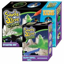 Glow in the Dark Sand Sands Alive Starter Set 1 Refill 450g Modeling Moulding