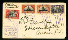 Panama Registered 4 Stamp Cover to Canal Zone
