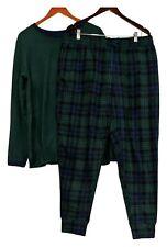 Cuddl Duds Women's Sz XL Fleecewear Stretch Jogger Pajama Set Green A381825