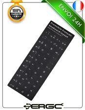 Kit de 48 stickers autocollants Azerty pour touches de clavier noir