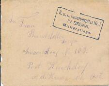 Nr.14738 Feldpost Brief   K.u.K.Reserve Spital  Brünn Nr.1