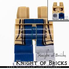 LEGO Minifigure Legs DARK TAN Flat Silver Boot on Left Dark Blue Boot on Right