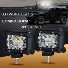 2PC Work Cube Side Shooter LED Light Bar Spot Flood Driving Fog Pod 4''200W