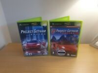 XBOX ORIGINAL - PROJECT GOTHAM RACING GAME BUNDLE - 1 & 2 complete with manuals