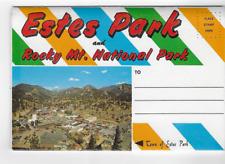 POSTCARD FOLDER-ESTES PARK AND ROCKY MOUNTAIN NATIONAL PARK