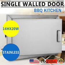 """NEW 20"""" OUTDOOR KITCHEN / BBQ ISLAND STAINLESS STEEL SINGLE ACCESS DOOR USA MADE"""