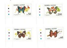 VINTAGE CLASSICS- Sierra Leone 1397-1404 Butterflies - Set Of 4 - MNH