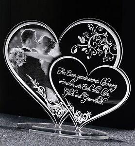 Acryl Herz Geschenk zur Hochzeit Jubiläum Fotogravur Lasergravur Top Angebot