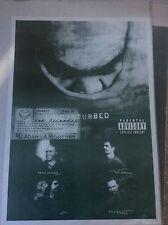 Disturbed The Sickness Album Pop Rock Promo Music Poster Memorabilia