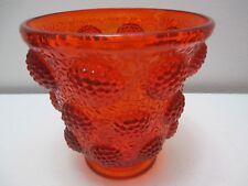 "Vintage Fenton Art Glass Vase Vessel of Gems Colonial Orange 6 5/8"" T 6 3/4"" D"