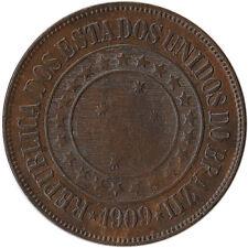 1909 Brazil 40 Reis Coin KM#491