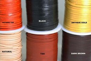 Flat Leather cord 3MM - Genuine Thong - Cord - Lace - Black -Tan -Natural -Brown
