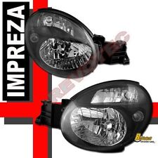 Black Housing Headlights For 2002 2003 Impreza WRX RS Wagon RH & LH