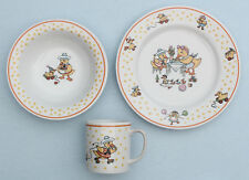 1980s Vtg Mary Engelbreit Horchow Child China Dish Set Duck Plate Bowl Cup Rare