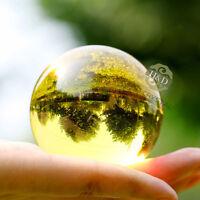 Asian Rare Natural Quartz Yellow Magic Crystal Healing Ball Sphere 60mm + Stand