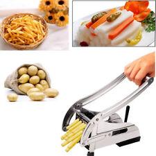 French Fry Vegetable Slicer Stainless Steel Chopper Potato Cutter 2 Blades Dicer