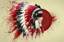 A4 Poster - Native American Indian Woman Wearing Feather Headdress (Picture Art)