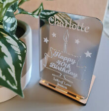 PERSONALISED BIRTHDAY GIFT 21ST 18TH 16TH TEA LIGHT HOLDER GIFTS FOR HER HIM