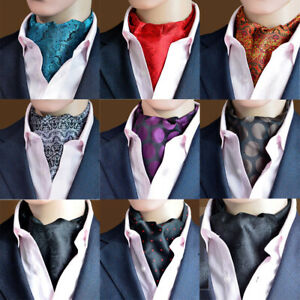 Men's Paisley Jacquard Scarves Cravat Ascot Ties Wedding Party Business Necktie