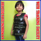Medieval Leather Cuirass, Child Size Muscle Body Armor Chestplate Breastplate