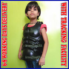 Medieval Leather Cuirass, Child Size Muscle Body Armor Chestplate Breastplace,