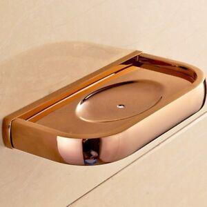 Rose Gold Brass Square Soap Basket Soap Dish Soap Holder Bathroom Accessories