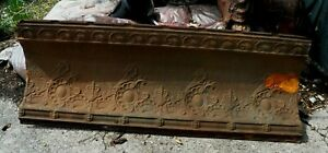 """VTG CURVED EMBOSSED TIN CEILING CORNICE 16"""" X 49""""         2nd"""