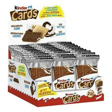 Kinder Cards Thin Wafers, Creamy Milk & Chocolate Filling 30 packs of 2